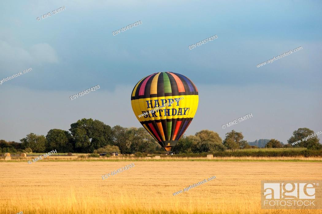 Stock Photo: hot air balloon.
