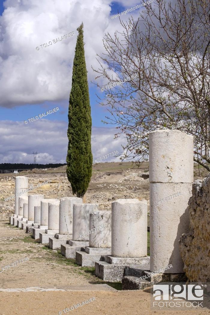 Stock Photo: Termas Monumentales, parque arqueológico de Segóbriga, Saelices, Cuenca, Castilla-La Mancha, Spain.