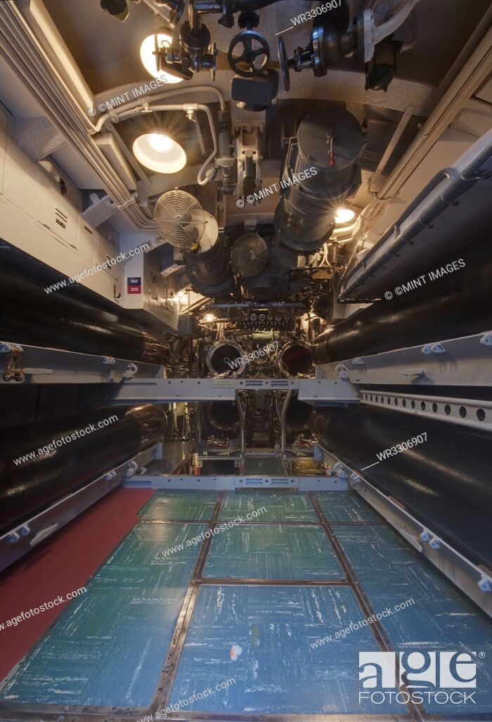 Stock Photo: Submarine Torpedo Room.