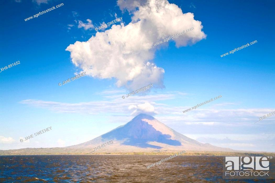 Stock Photo: Concepcion volcano, Ometepe island, Nicaragua.