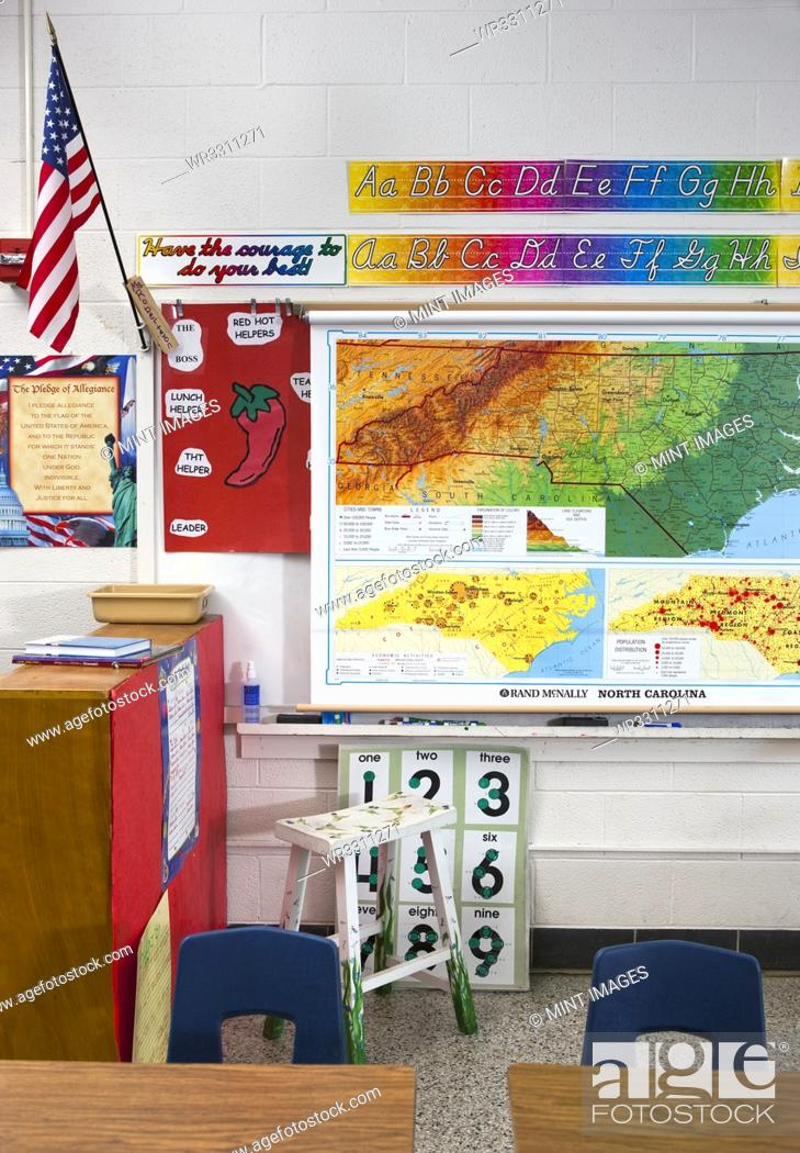 Imagen: American Grade School Classroom.