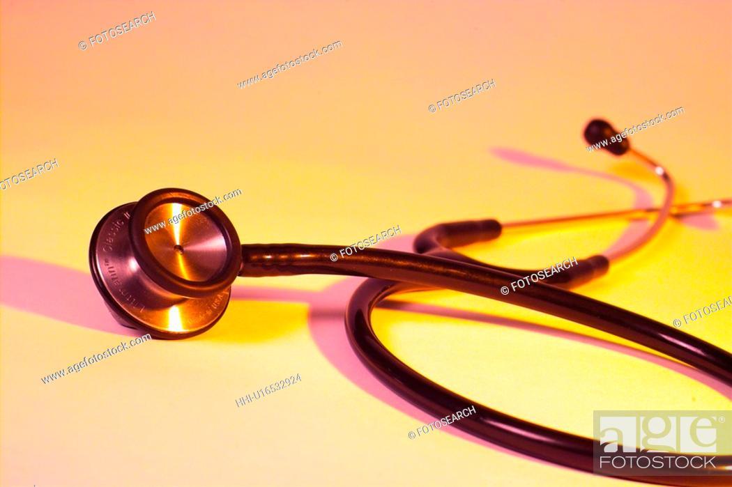 Stock Photo: medicare, medical appliance, medical service, medical treatment, stethoscope, medical instrument.