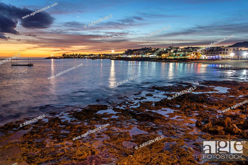 Stock Photo: Playa Blanca sunset, Lanzarote, Canary Islands, Spain.