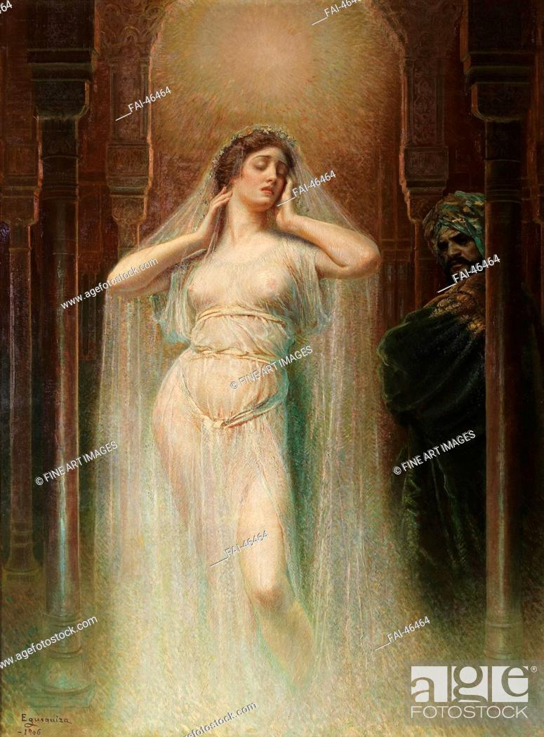 Stock Photo: Kundry by Egusquiza y Barrena, Rogelio de (1845-1915)/Oil on canvas/Symbolism/1906/Spain/Museo del Prado, Madrid/240x180/Opera, Ballet, Theatre, Mythology.