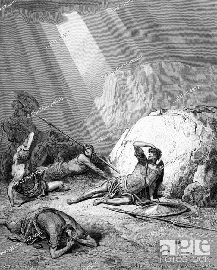 Engraving From The Dore Bible Illustrating Acts Ix 1 To 6 The