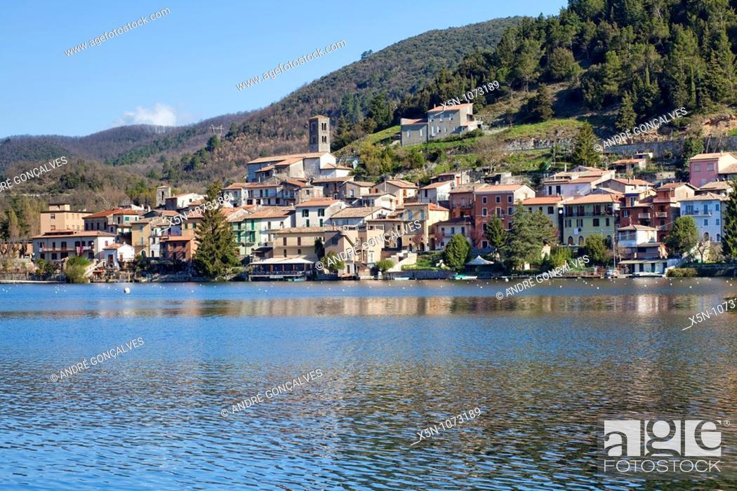 Stock Photo: Piediluco, Italy.