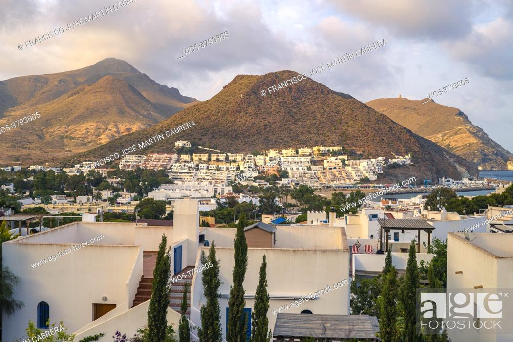 Stock Photo: San José is a town in the municipality of Níjar, in the province of Almería (Andalusia, Spain), within the Cabo de Gata-Níjar natural park.