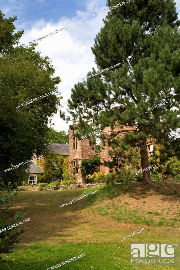 Stock Photo: Wilton Castle Ross on Wye Herefordshire England.