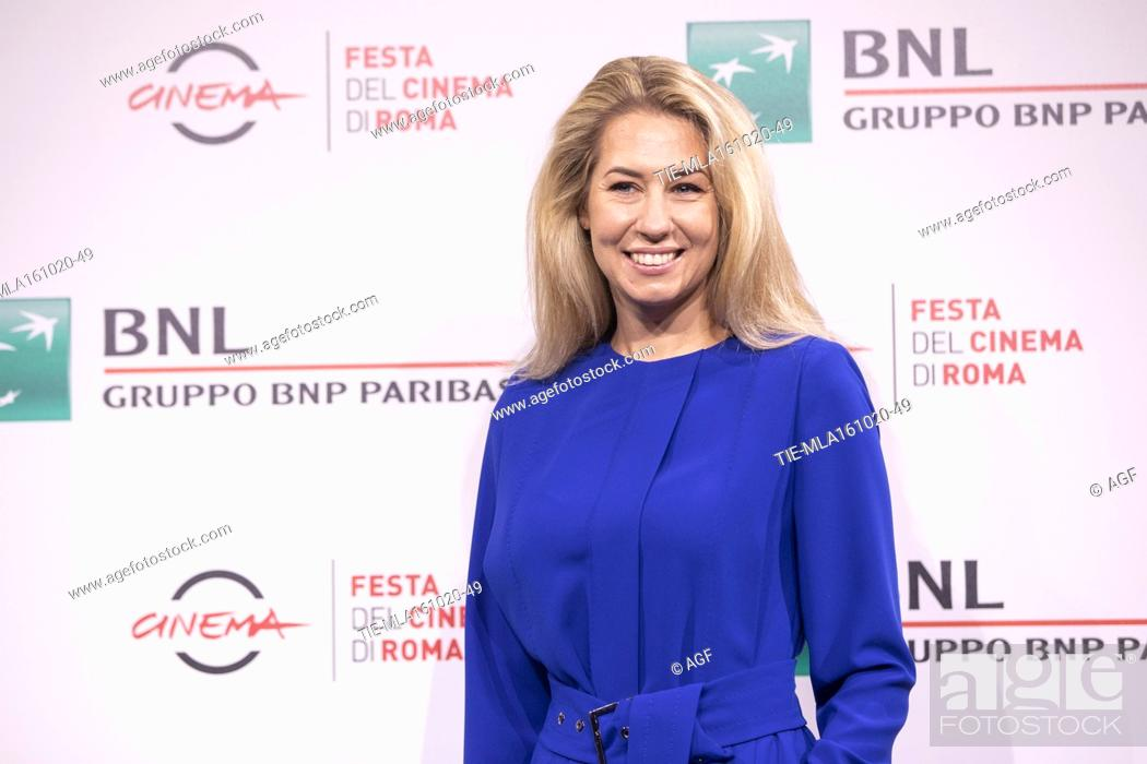 """Stock Photo: Director Giedre Zickyte attends the photocall of the movie """"""""The Jump"""""""" during the 15th Rome Film Festival on October 16, 2020 in Rome, Italy."""