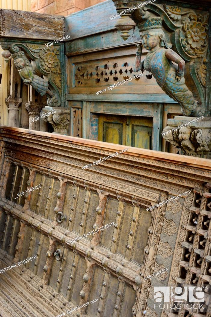 India Rajasthan Jodhpur Rani Handicrafts Antique Shop Stock