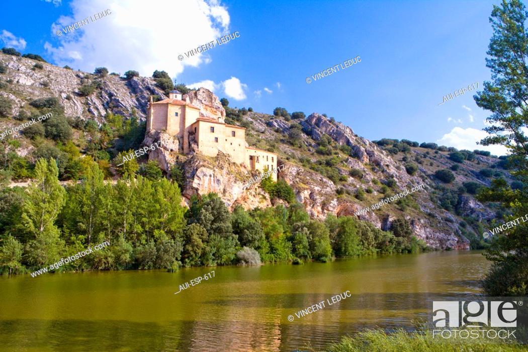 Stock Photo: Spain - Castile and Leon - Soria - Hermitage of San Saturio.