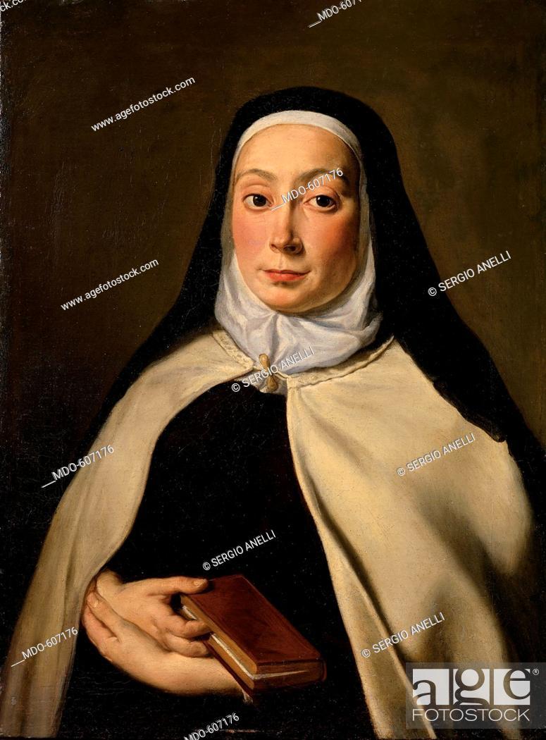 Portrait of a Nun, by Cignani Carlo, 17th Century, oil on canvas
