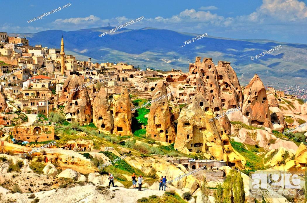 Stock Photo: Guelvercin Evi, Pigeon Loft Valley, Uchisar, Cappadocia.