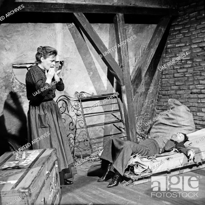 Imagen: Die Ratten, Fernsehspiel, Deutschland 1959, Regie: John Olden, Darsteller: Ingrid Andree, Gisela von Collande.