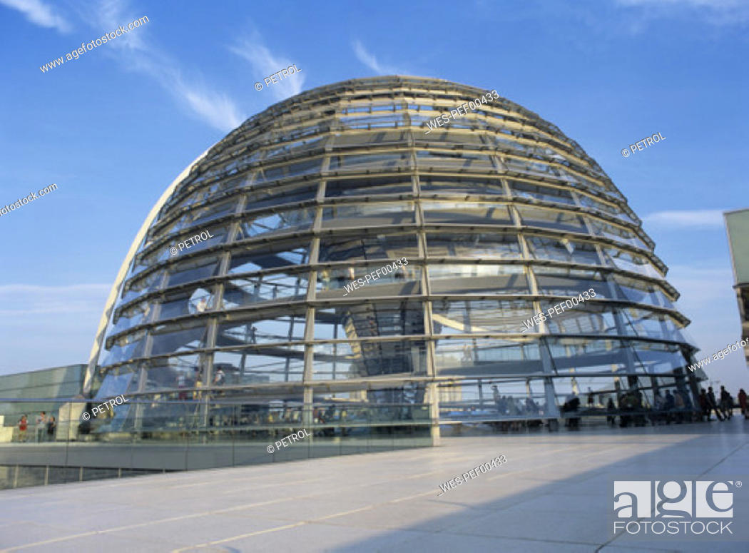 Stock Photo: Dome of the Reichstag, Berlin, Germany.