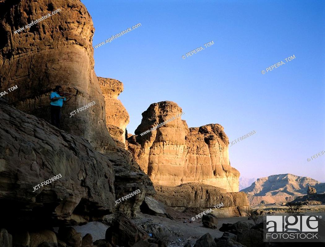 Stock Photo: Israel, Eilat vicinity, Negev desert, Timna park, Salomon's pillars.