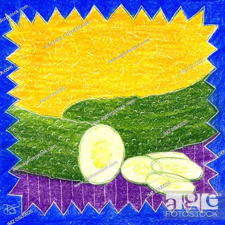 Stock Photo: cucumbers.