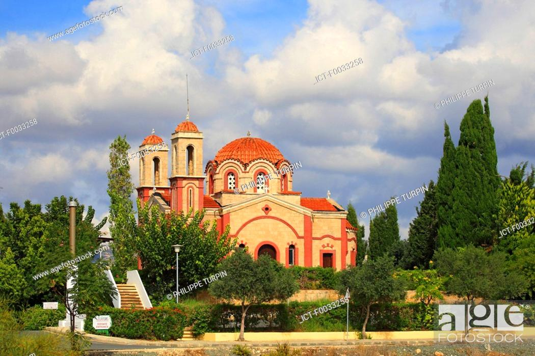 Stock Photo: Cyprus, Chlorakas, Agios Georgios church.