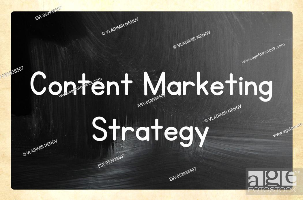 Stock Photo: content marketing strategy.