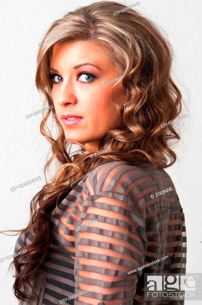 Stock Photo: Brunette.