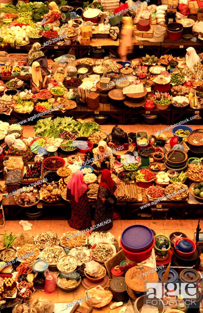 Stock Photo: Central market. Kota Bharu. Malaysia.