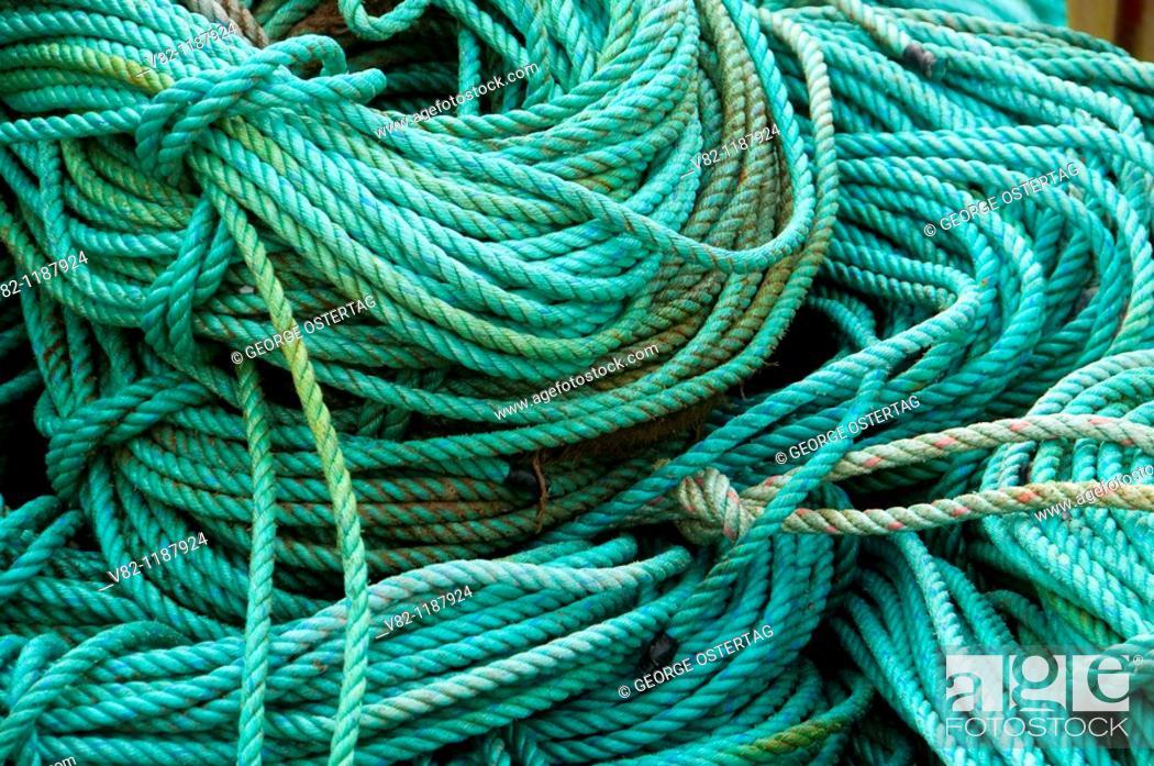 Stock Photo: Fishing rope, Charleston Marina, Charleston, OR.
