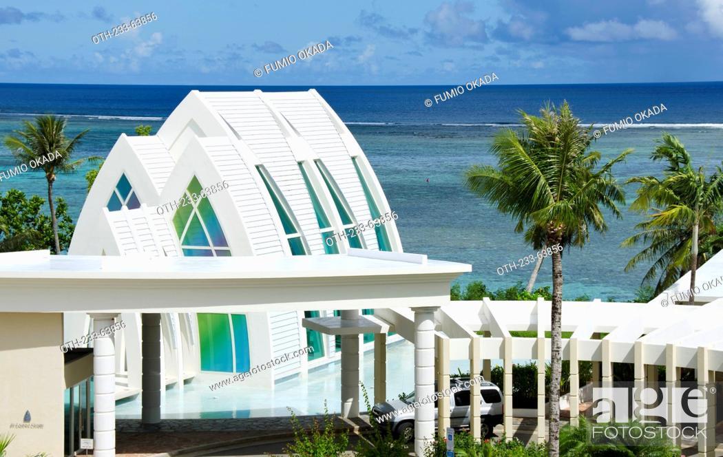 Stock Photo: St. Laguna chapel, Tumon Beach, Guam.