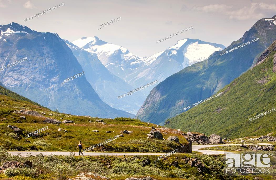 Stock Photo: Landscap, in Scenic road Gamle Strynefjellsvegen, Norway.