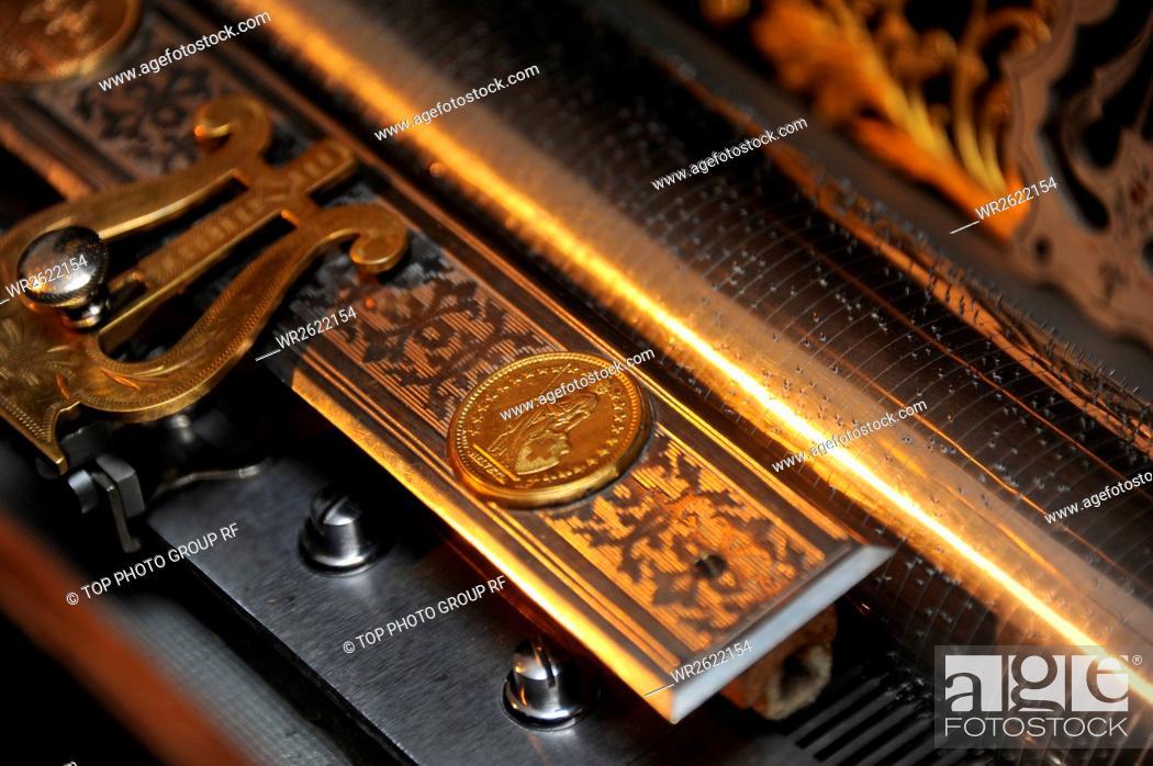 Stock Photo: Lake Kawaguchi;Music Box Forest;Japan.