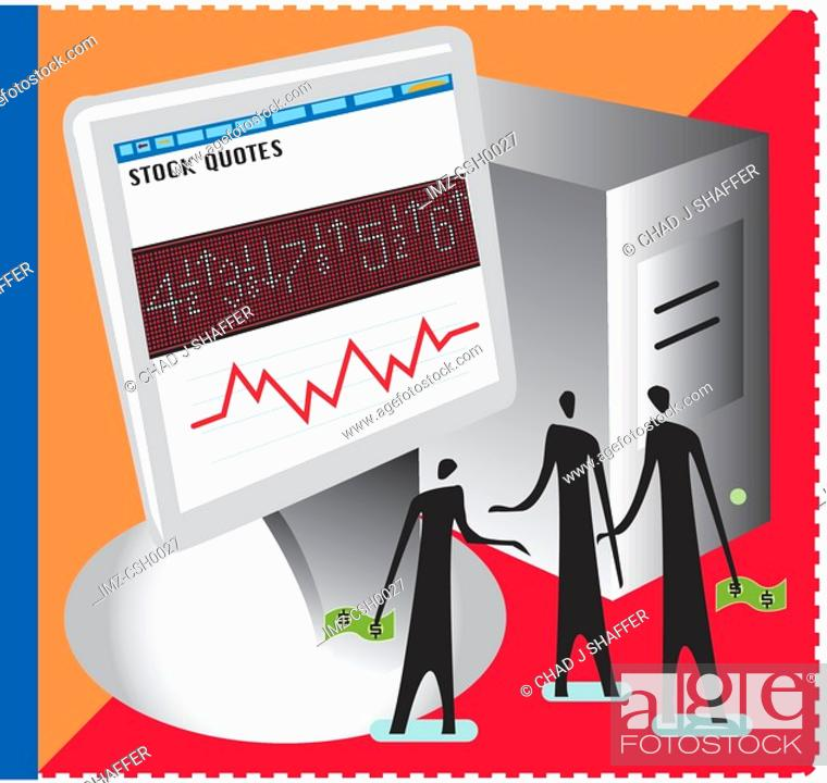 Stock Photo: An illustration of the online trading.