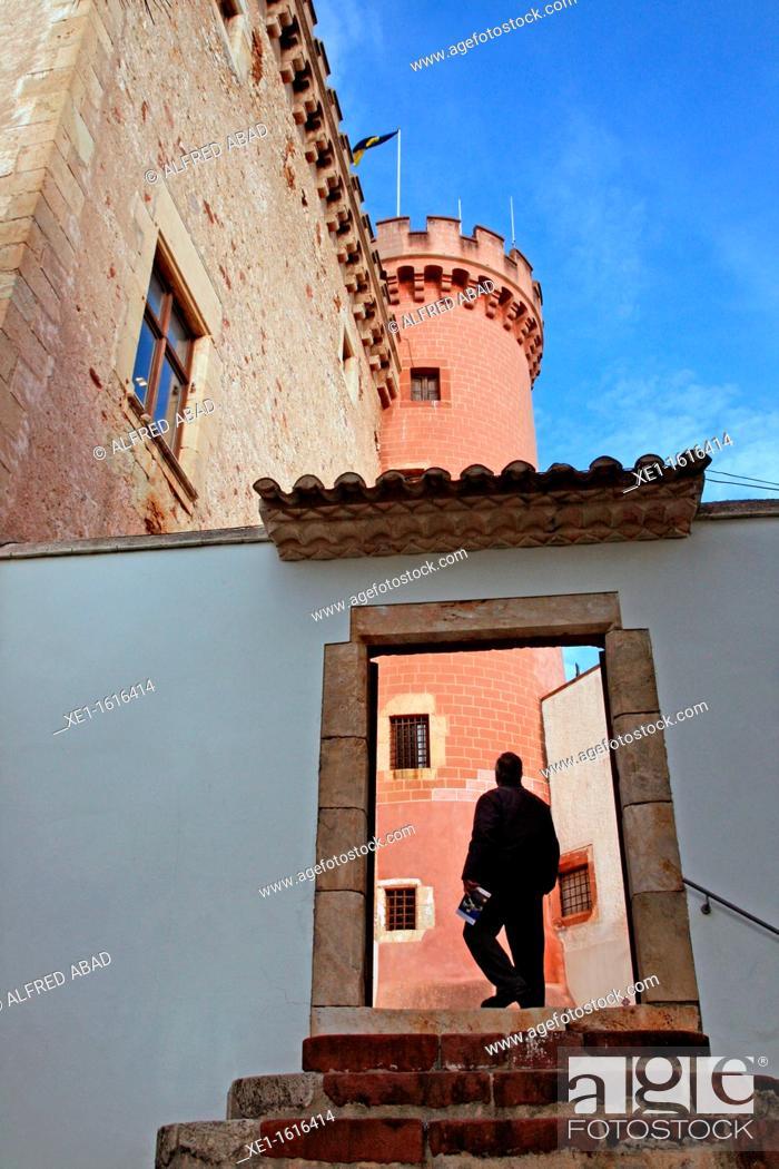 Stock Photo: door, castle of Fels, Castelldefels, Catalonia, Spain.