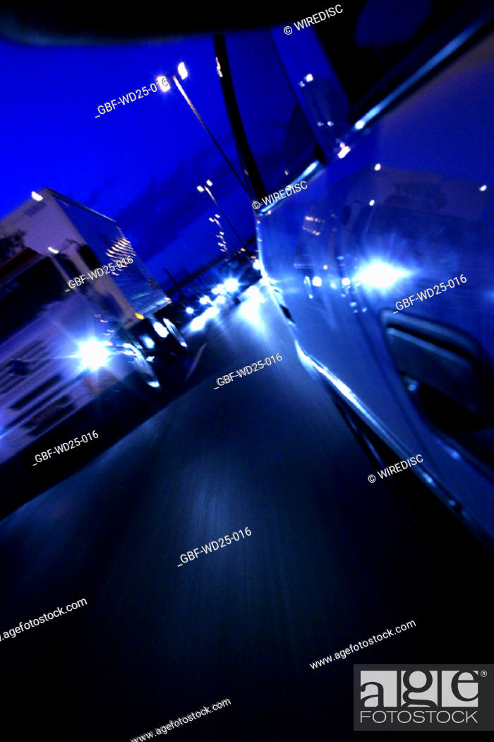 Stock Photo: Transport, car, truck, road.