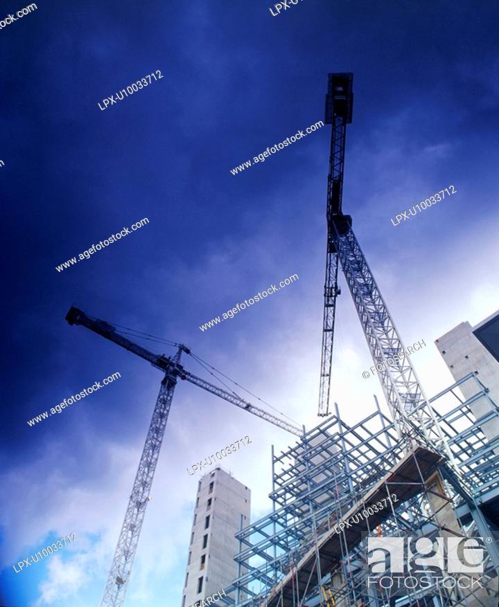 Stock Photo: Tower Cranes.
