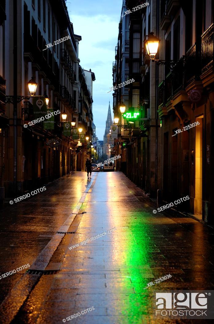 Stock Photo: Old town, San Sebastian, Basque Country, Spain.