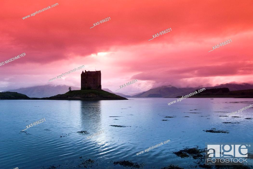 Stock Photo: Castle Stalker, near Port Appin, Scotland, UK.