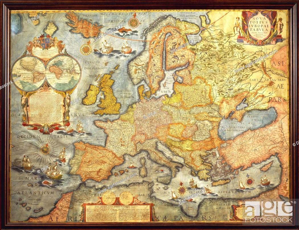 Cartography 17th Century Map Of Europe 1686 By J Blaeu Stock
