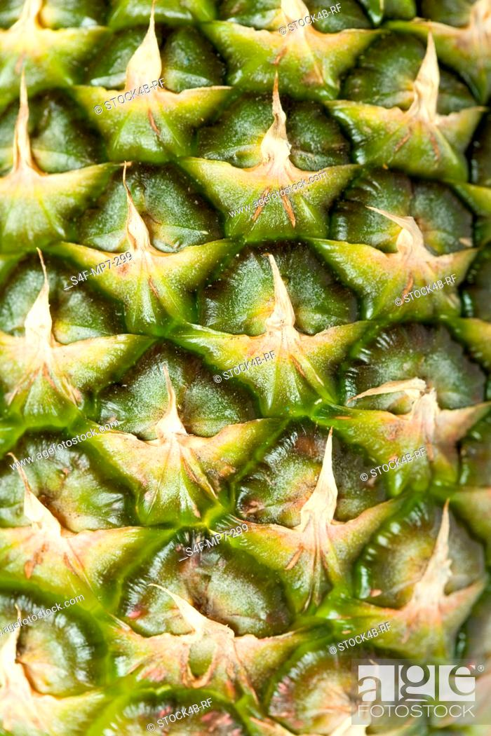 Stock Photo: Detail of a pineapple.