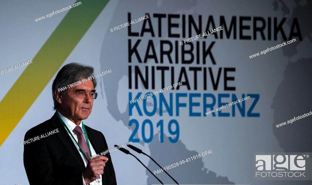 Imagen: 28 May 2019, Berlin: Joe Kaeser, CEO of Siemens AG, speaks at the opening of the Latin America and Caribbean Conference at the Federal Foreign Office.