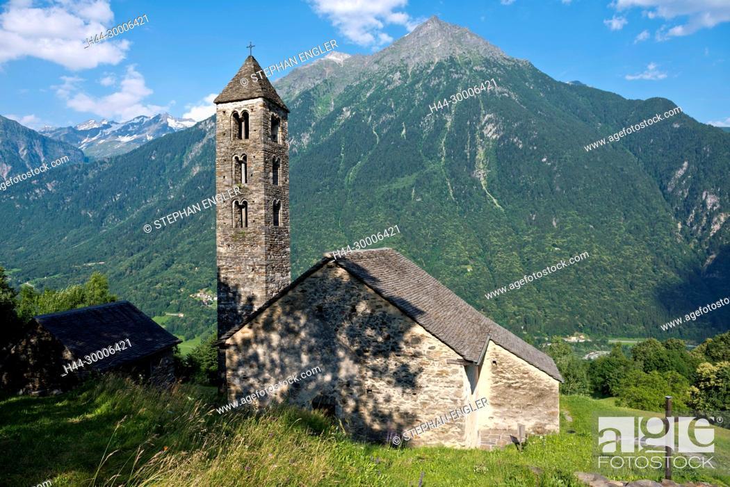 Stock Photo: Switzerland, Ticino Tessin San Carlo Negrentino.