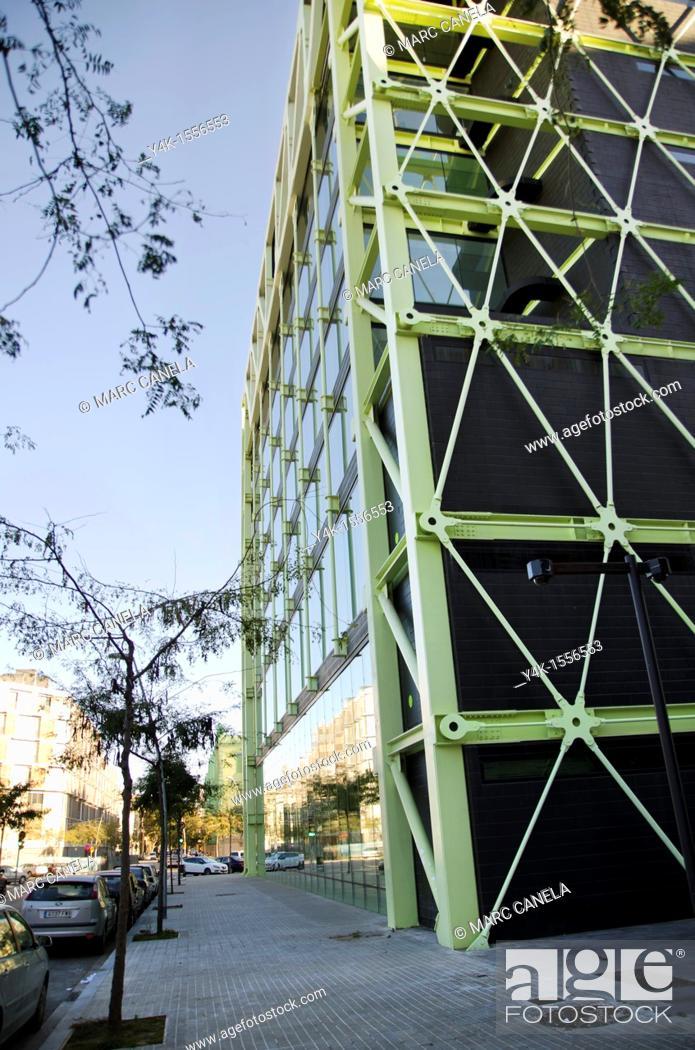 Stock Photo: Media-TIC business centre, 22@ business development, Poblenou, Barcelona, Catalonia, Spain.