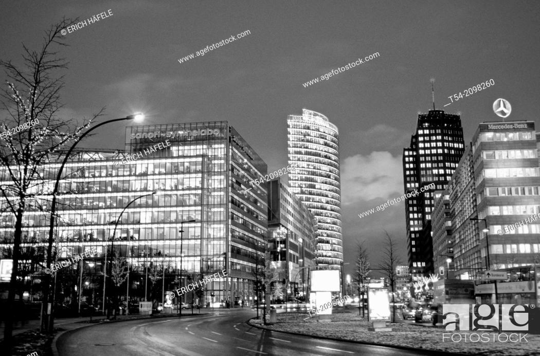 Stock Photo: Podsdamer Square at night.
