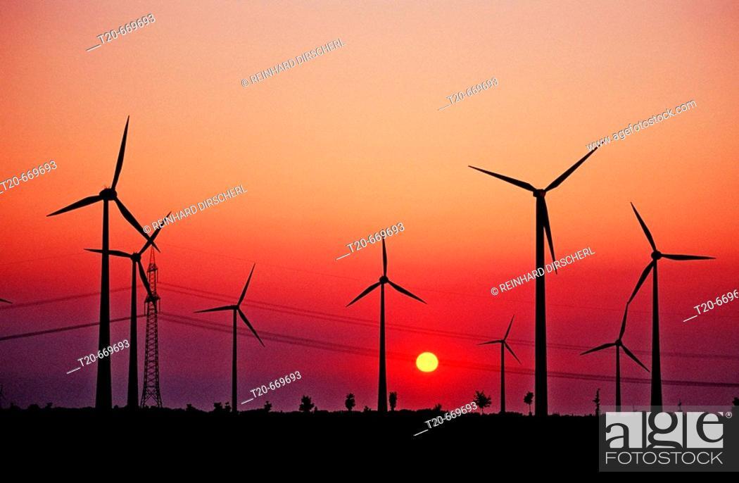Stock Photo: Wind farm, Germany, Leipzig.