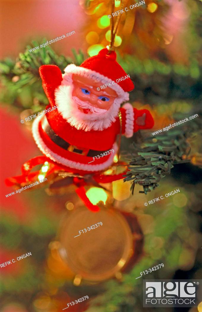 Stock Photo: Christmas tree detail.