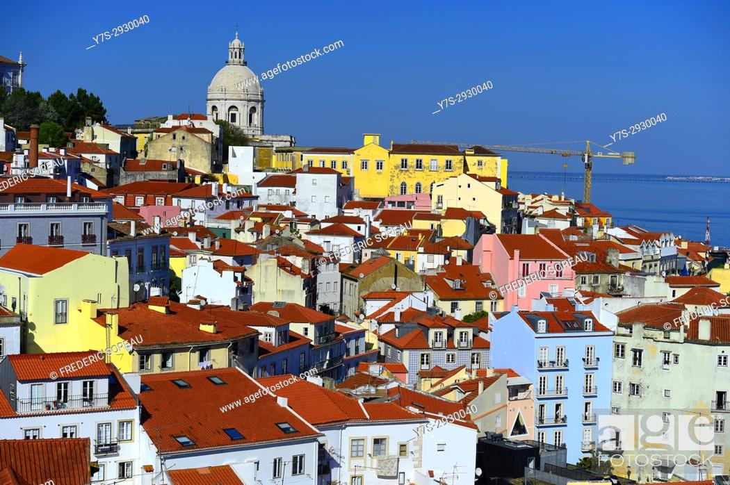 Stock Photo: Portugal cityscape in the Alfama district.
