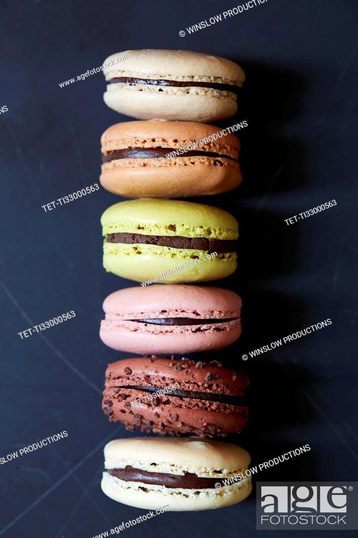 Stock Photo: Row of macarons.