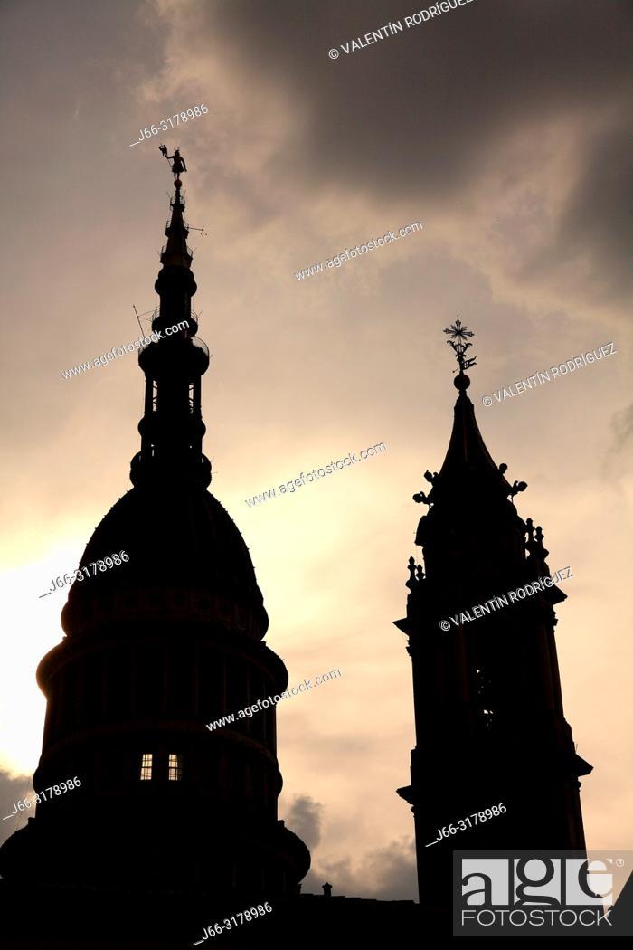Stock Photo: Dome of the San Gaudencio Basílica. Novara. Italy.