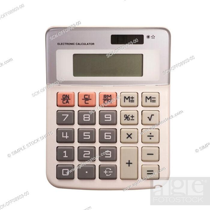 Stock Photo: calculator.