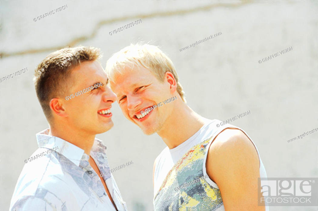 Stock Photo: Two Young men smiling.