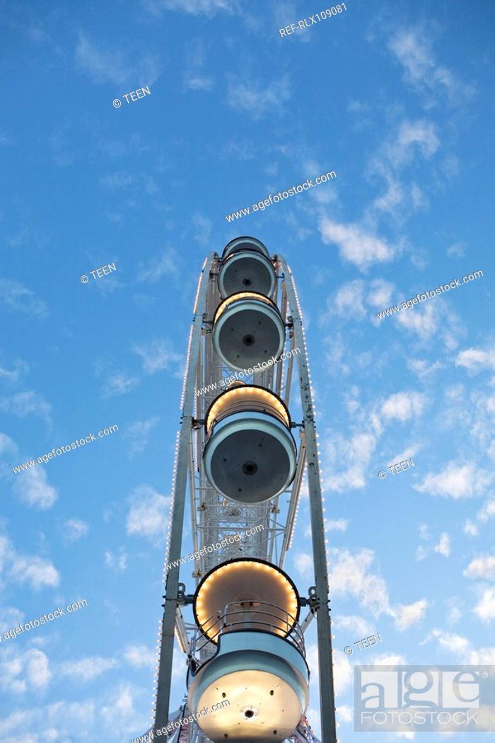 Stock Photo: Ferris wheel on the Place de la Concorde, Paris, France.