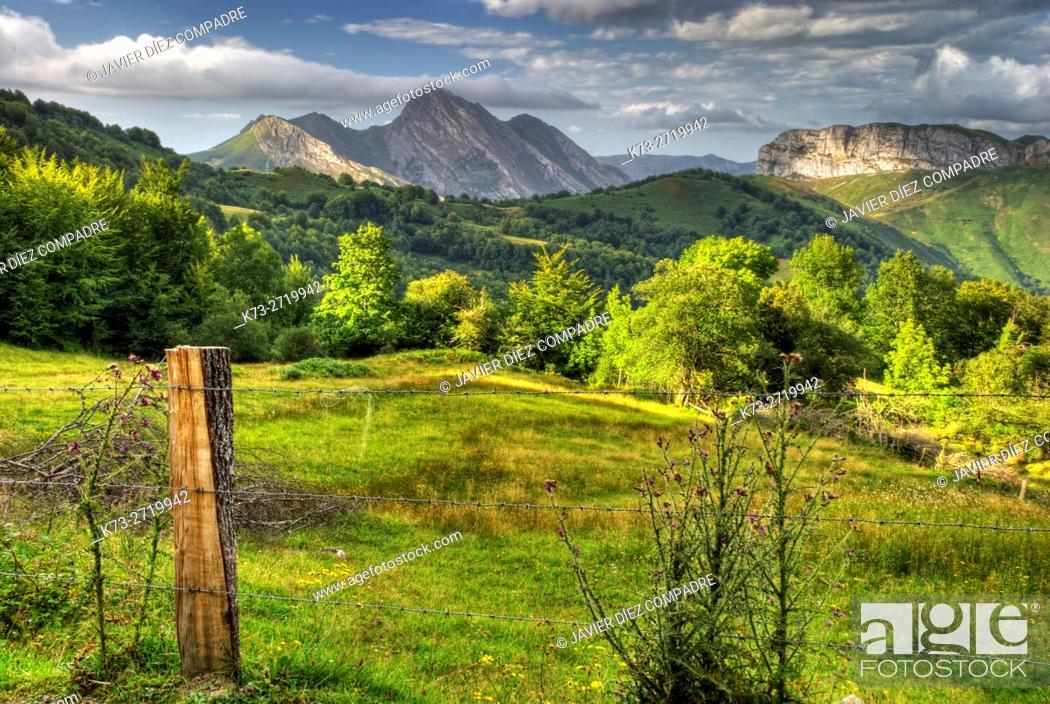 Stock Photo: San Juan de Beleño. Ponga Council. Asturias. Spain.